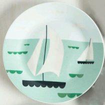 بشقاب سفالی طرح قایق