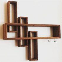شلف دیواری مجموعه 4 تایی کار چوب کد 512